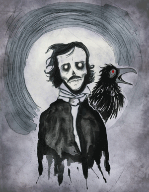 Bat in Your Belfry Poe Painting