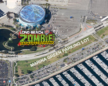 Long Beach Zombie Walk Parking Lot