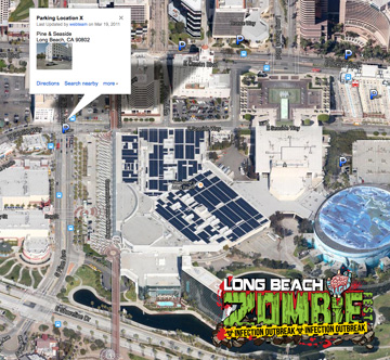 Long Beach Zombie Walk Parking Structure