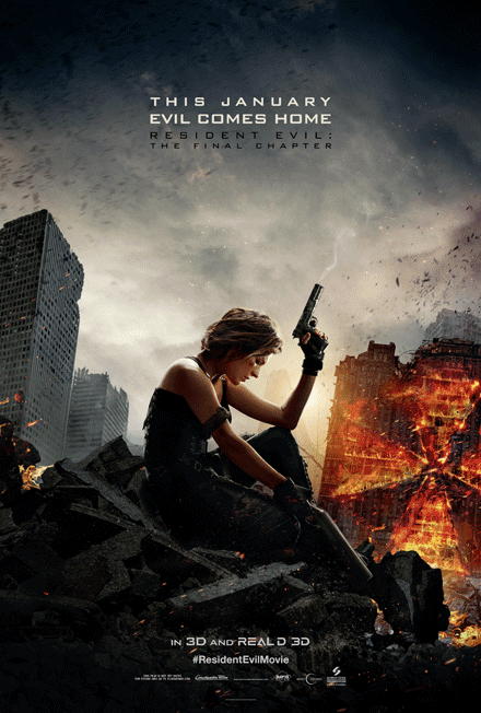 Resident Evil: Fina Chapter Official Movie Poster - Screen Gems Studios